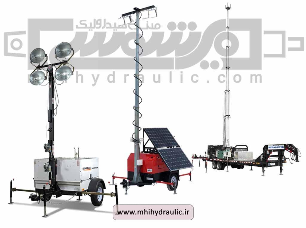 بالابر هیدرولیکی برج نورساز